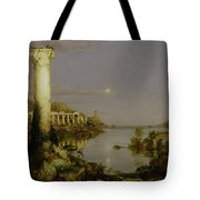 The Course Of Empire - Desolation Tote Bag by Thomas Cole