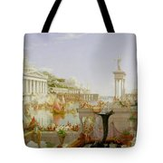 The Course Of Empire - The Consummation Of The Empire Tote Bag by Thomas Cole