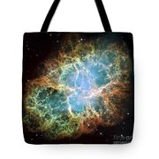 The Crab Nebula Tote Bag by Stocktrek Images