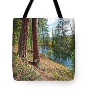 The Creek Tote Bag by Nancy Harrison