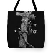 The Cross And The Vine Tote Bag by Jyvonne Inman