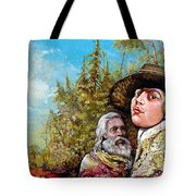 The Dauphin And Captain Nemo Discovering Bogomils Island Tote Bag by Otto Rapp