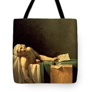 The Death Of Marat Tote Bag by Jacques Louis David