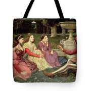 The Decameron Tote Bag by John William Waterhouse