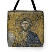 The Dees Mosaic In Hagia Sophia Tote Bag by Ayhan Altun