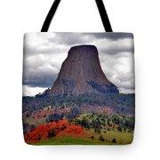 The Devils Tower WY Tote Bag by Susanne Van Hulst