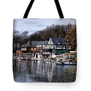 The Docks at Boathouse Row - Philadelphia Tote Bag by Bill Cannon