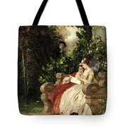 The Eavesdropper Tote Bag by Carl Heinrich Hoff