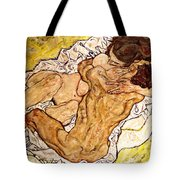 The Embrace Tote Bag by Egon Schiele