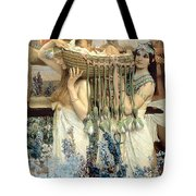 The Finding of Moses by Pharaoh's Daughter Tote Bag by Sir Lawrence Alma-Tadema