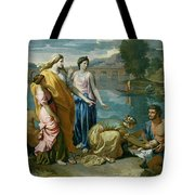 The Finding Of Moses Tote Bag by Nicolas Poussin