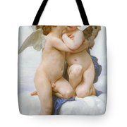 The First Kiss  Tote Bag by William Adolphe Bouguereau