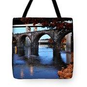 The Five Bridges - East Falls - Philadelphia Tote Bag by Bill Cannon