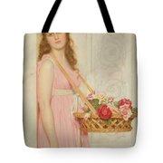 The Flower Seller Tote Bag by George Lawrence Bulleid