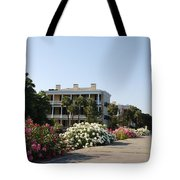The Flowers At The Battery Charleston Sc Tote Bag by Susanne Van Hulst