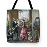 The Four Seasons of Life  Middle Age Tote Bag by Currier and Ives