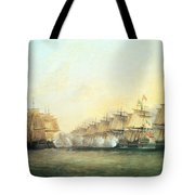 The Fourth Action Off Trincomalee Between The English And The French Tote Bag by Dominic Serres