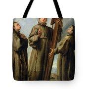 The Franciscan Martyrs In Japan Tote Bag by Don Juan Carreno de Miranda