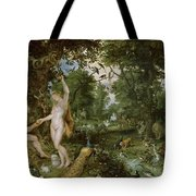 The Garden Of Eden With The Fall Of Man Tote Bag by Jan Brueghel and Rubens