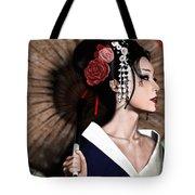 The Geisha Tote Bag by Pete Tapang