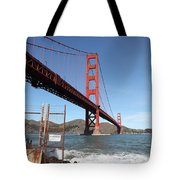 The Golden Gate Bridge At Fort Point - 5d21473 Tote Bag by Wingsdomain Art and Photography