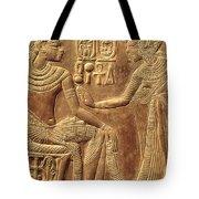 The Golden Shrine Of Tutankhamun Tote Bag by Egyptian Dynasty