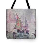 The Green Sail Tote Bag by Paul Signac