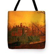 The Haunted House Tote Bag by John Atkinson Grimshaw