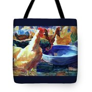 The Henhouse Watering Hole Tote Bag by Kathy Braud