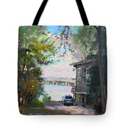 The House By The River Tote Bag by Ylli Haruni