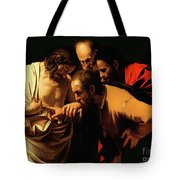 The Incredulity of Saint Thomas Tote Bag by Caravaggio