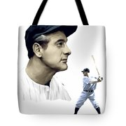 The Iron Horse  Lou Gehrig Tote Bag by Iconic Images Art Gallery David Pucciarelli