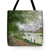 The Island Of La Grande Jatte Tote Bag by Claude Monet