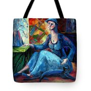 The Jeans Girl. 20 Years Later Tote Bag by Elisheva Nesis
