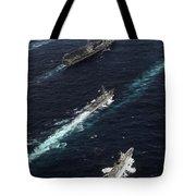 The John C. Stennis Carrier Strike Tote Bag by Stocktrek Images