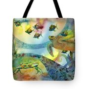 The Journey Begins Tote Bag by Amy Kirkpatrick