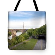The Kelly Drive Rock Tunnel Tote Bag by Bill Cannon