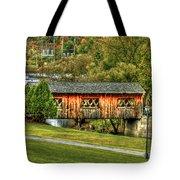 The Kissing Bridge Tote Bag by Evelina Kremsdorf