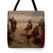 The Landing Of The Pilgrim Fathers Tote Bag by George Henry Boughton