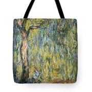 The Large Willow At Giverny Tote Bag by Claude Monet