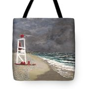 The Last Lifeguard Tote Bag by Jack Skinner
