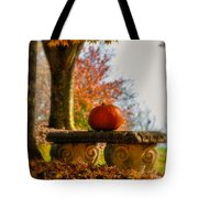 The Last Pumpkin Tote Bag by Lois Bryan