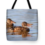 The Laughing Duck Tote Bag by Wingsdomain Art and Photography