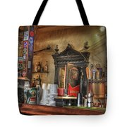 The Lazy Gecko Bar Key West Tote Bag by Scott Bert