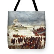 The Lifeboat Tote Bag by William Lionel Wyllie