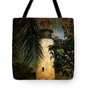 The Lighthouse In Key West Tote Bag by Susanne Van Hulst