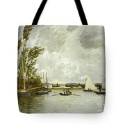 The Little Branch of the Seine at Argenteuil Tote Bag by Claude Monet