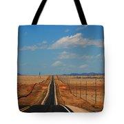 The Long Road To Santa Fe Tote Bag by Susanne Van Hulst