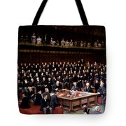 The Lord Chancellor About To Put The Question In The Debate About Home Rule In The House Of Lords Tote Bag by English School