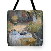 The Luncheon Tote Bag by Claude Monet